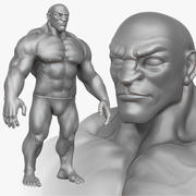 Muscular Man 2 Zbrush Sculpt 3d model