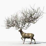 鹿神 3d model