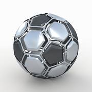 Soccerball rozłożony metal 3d model