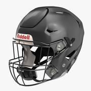Riddel Speedflex Helmetブラック 3d model