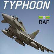 Typhoon RAF 3d model