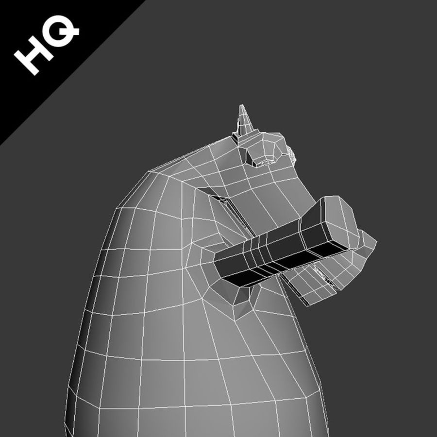 COW CARTOON royalty-free 3d model - Preview no. 9