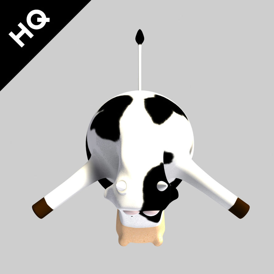 COW CARTOON royalty-free 3d model - Preview no. 5