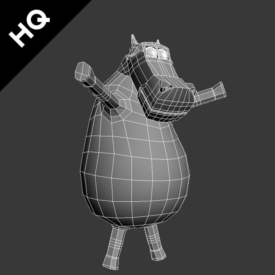 COW CARTOON royalty-free 3d model - Preview no. 12
