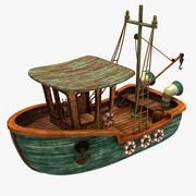 Cartoon Boat 3d model