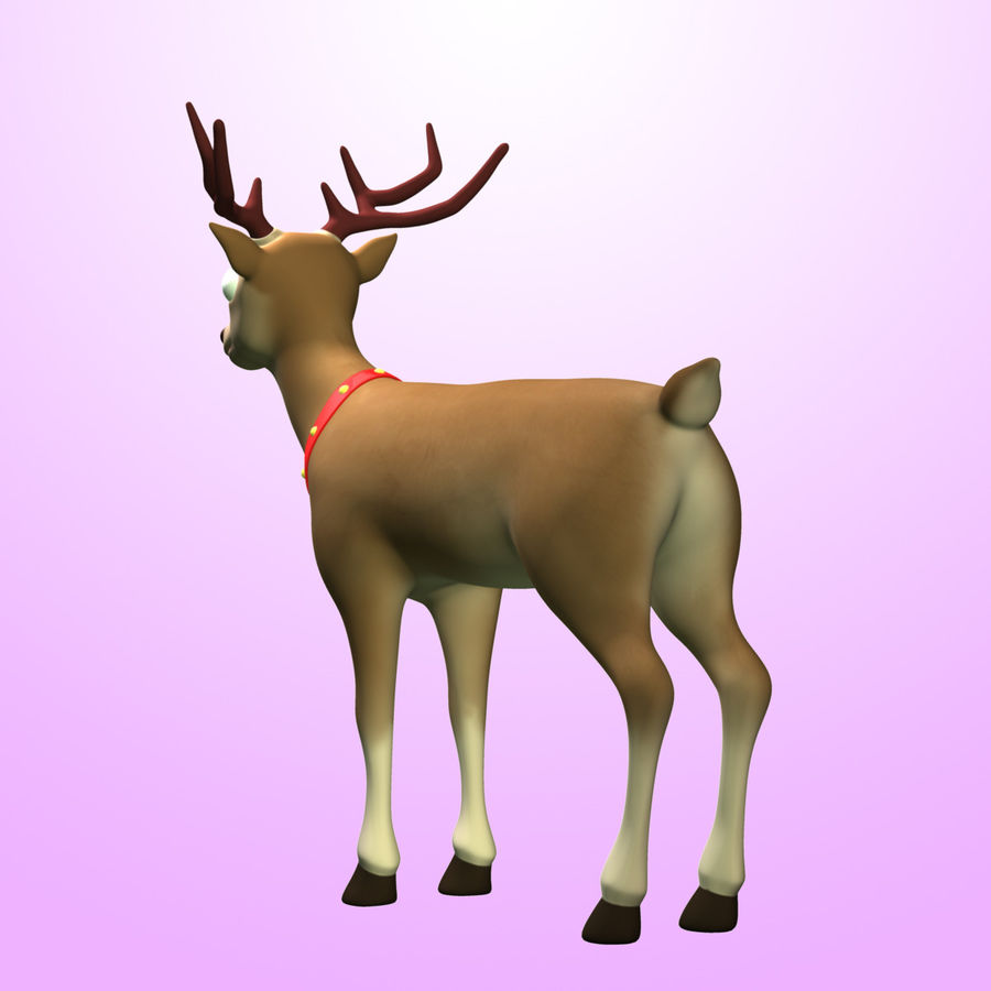 Cartoon Deer royalty-free 3d model - Preview no. 5