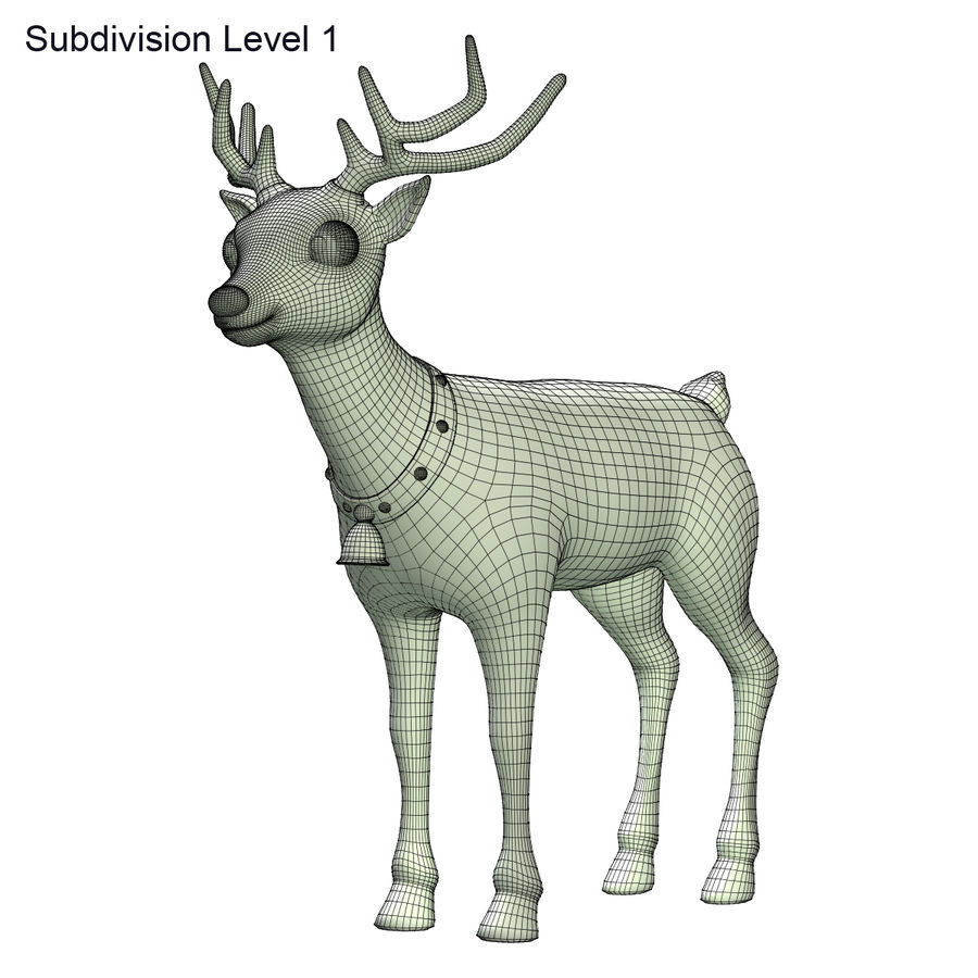 Cartoon Deer royalty-free 3d model - Preview no. 8
