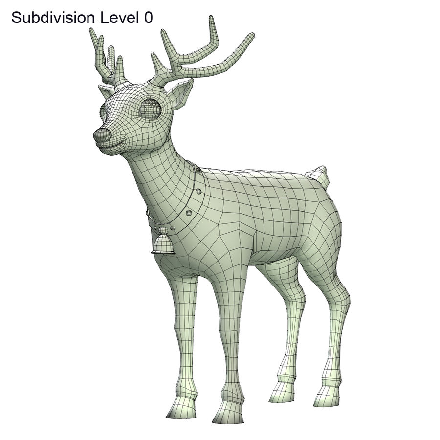 Cartoon Deer royalty-free 3d model - Preview no. 7