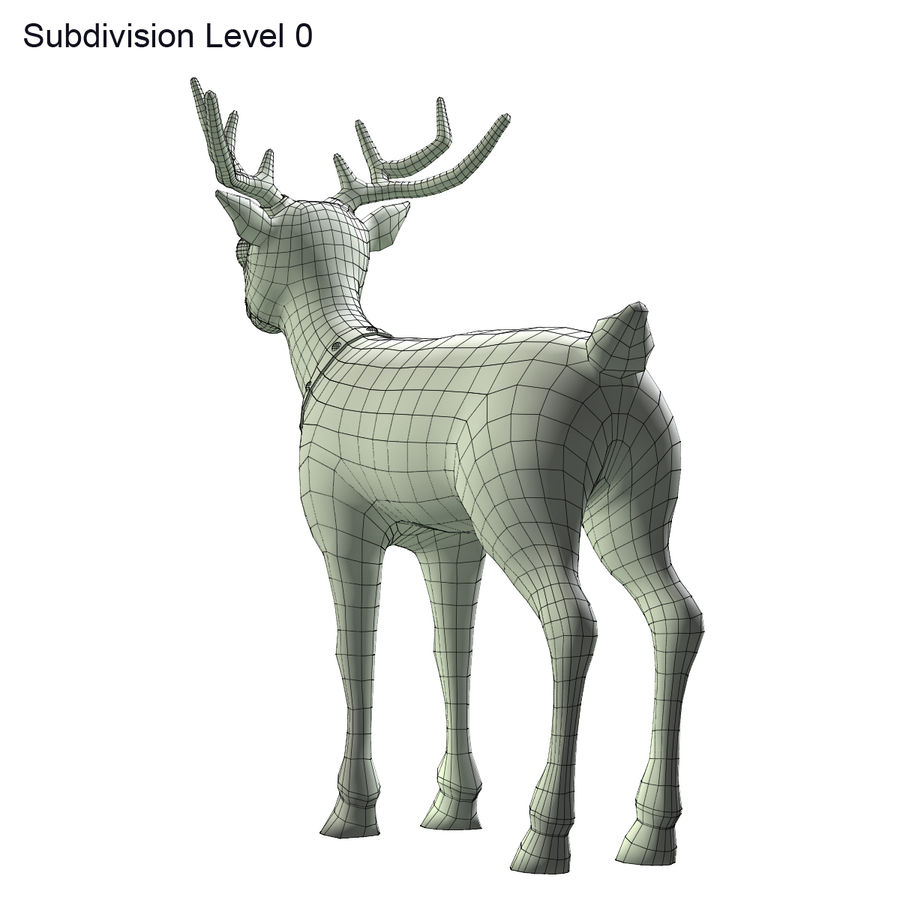 Cartoon Deer royalty-free 3d model - Preview no. 9