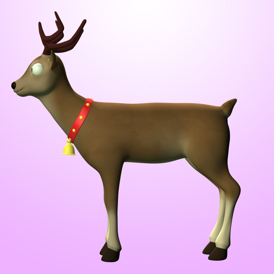 Cartoon Deer royalty-free 3d model - Preview no. 6