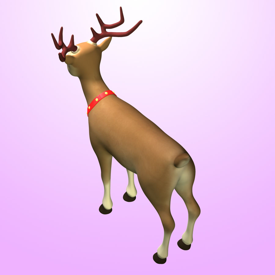 Cartoon Deer royalty-free 3d model - Preview no. 4