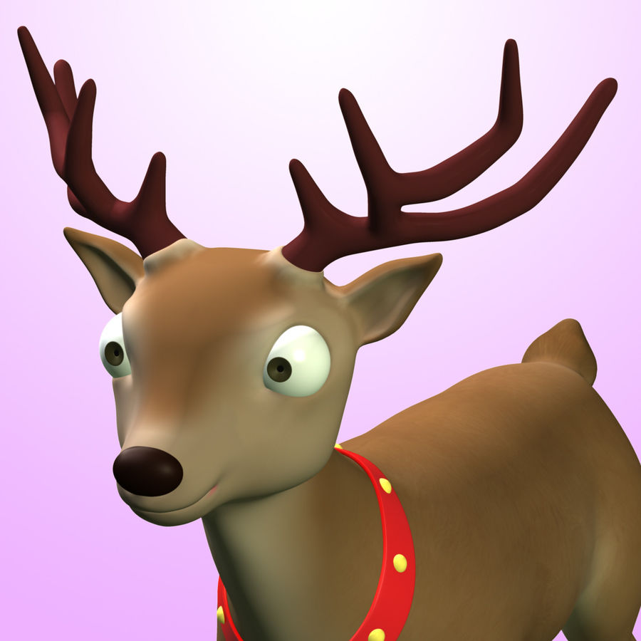 Cartoon Deer royalty-free 3d model - Preview no. 3