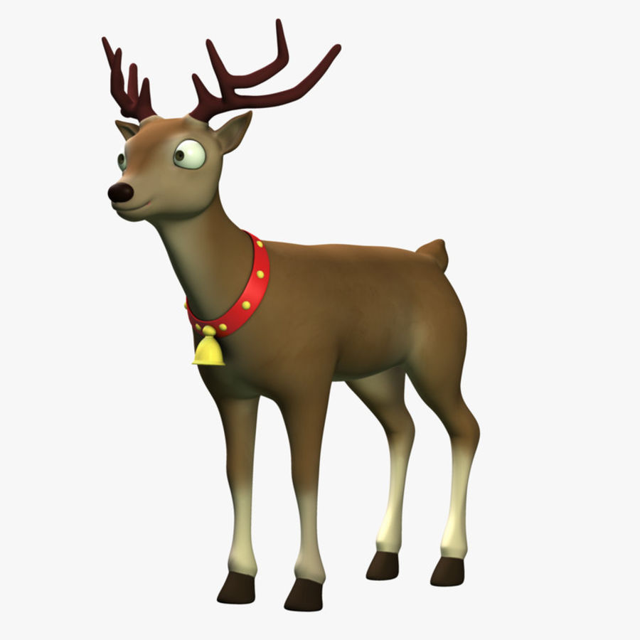 Cartoon Deer royalty-free 3d model - Preview no. 1