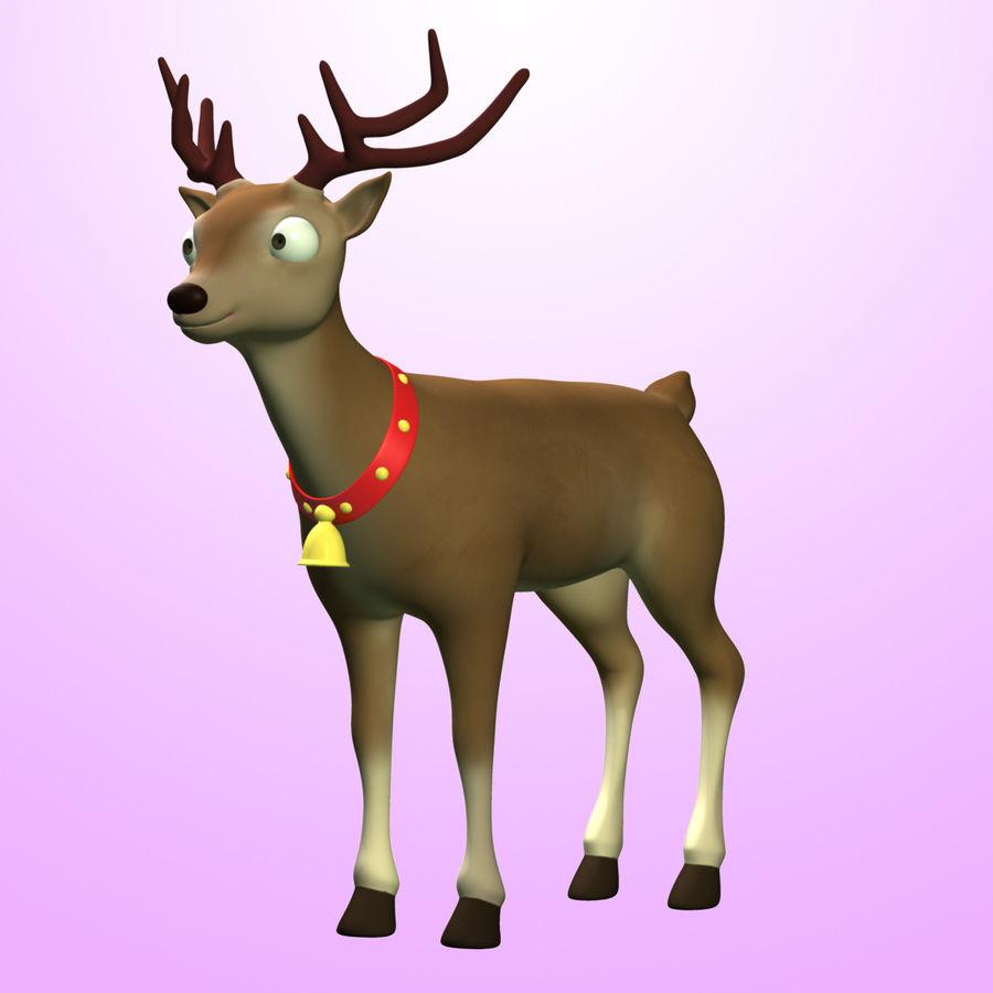 Cartoon Deer royalty-free 3d model - Preview no. 2