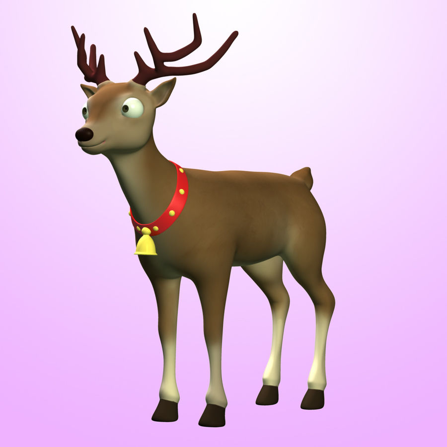Cartoon Deer royalty-free 3d model - Preview no. 2