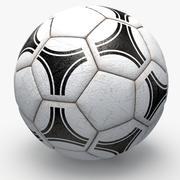 Soccerball pro white triangles 3d model