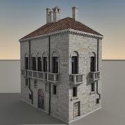 Italian Building 020 3d model