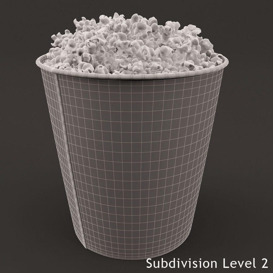Popcorn Bucket 3,7L royalty-free 3d model - Preview no. 10