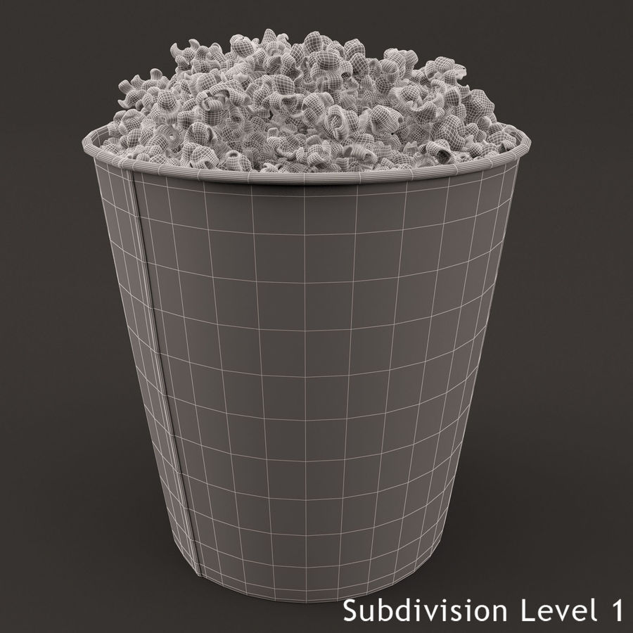 Popcorn Bucket 3,7L royalty-free 3d model - Preview no. 9