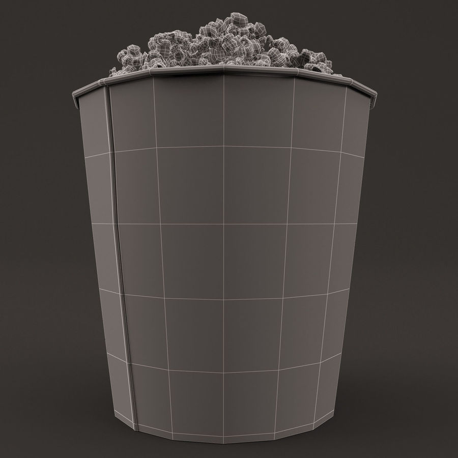 Popcorn Bucket 3,7L royalty-free 3d model - Preview no. 12