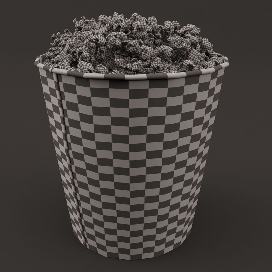 Popcorn Bucket 3,7L royalty-free 3d model - Preview no. 1