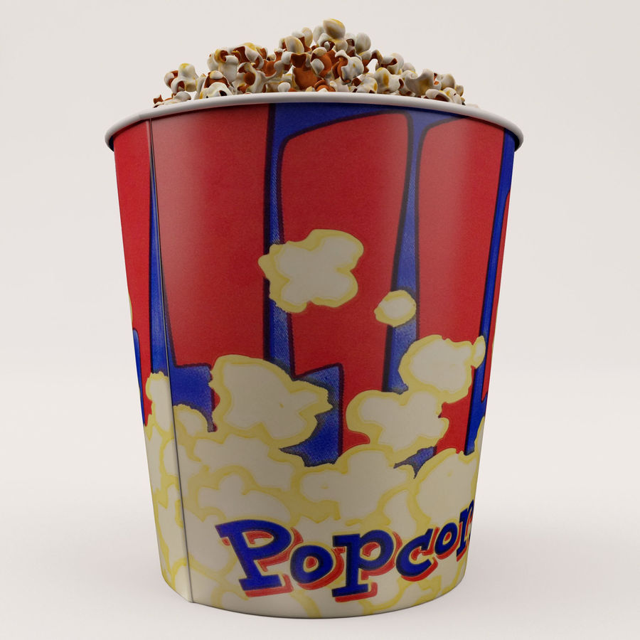 Popcorn Bucket 3,7L royalty-free 3d model - Preview no. 11