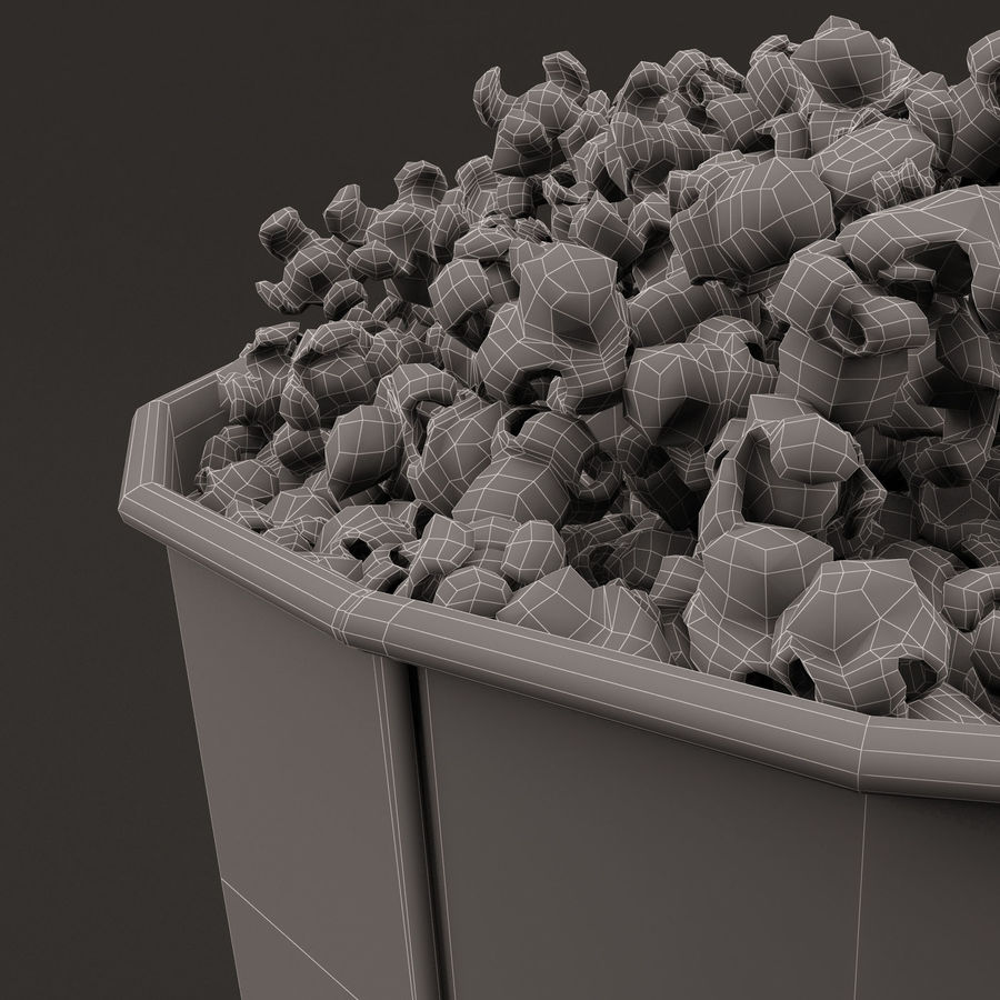 Popcorn Bucket 3,7L royalty-free 3d model - Preview no. 16