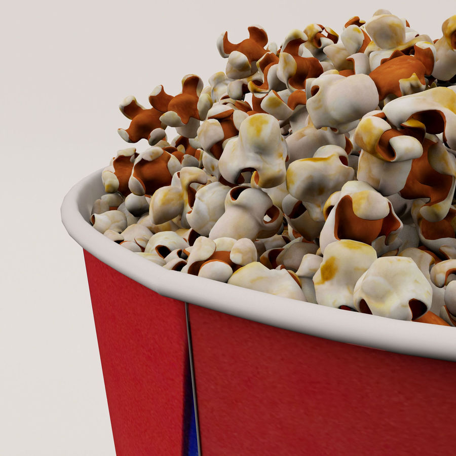 Popcorn Bucket 3,7L royalty-free 3d model - Preview no. 15