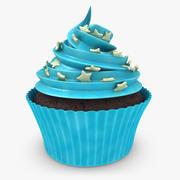 Cupcake (Blue) 3d model