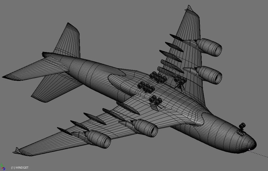 Airbus A380 Etihad royalty-free 3d model - Preview no. 16