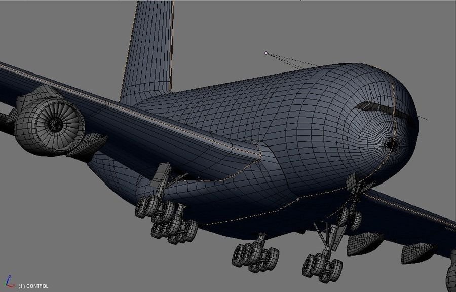 Airbus A380 Etihad royalty-free 3d model - Preview no. 14