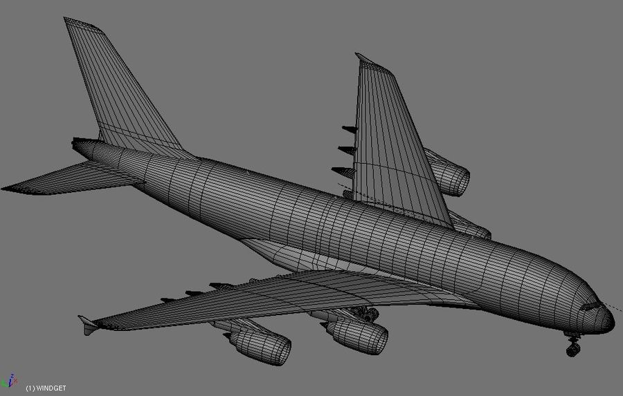 Airbus A380 Etihad royalty-free 3d model - Preview no. 15