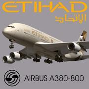 에어 버스 A380 에티 하드 3d model
