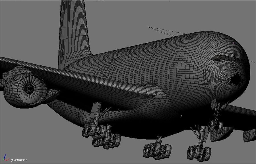 Airbus A380 Etihad royalty-free 3d model - Preview no. 18