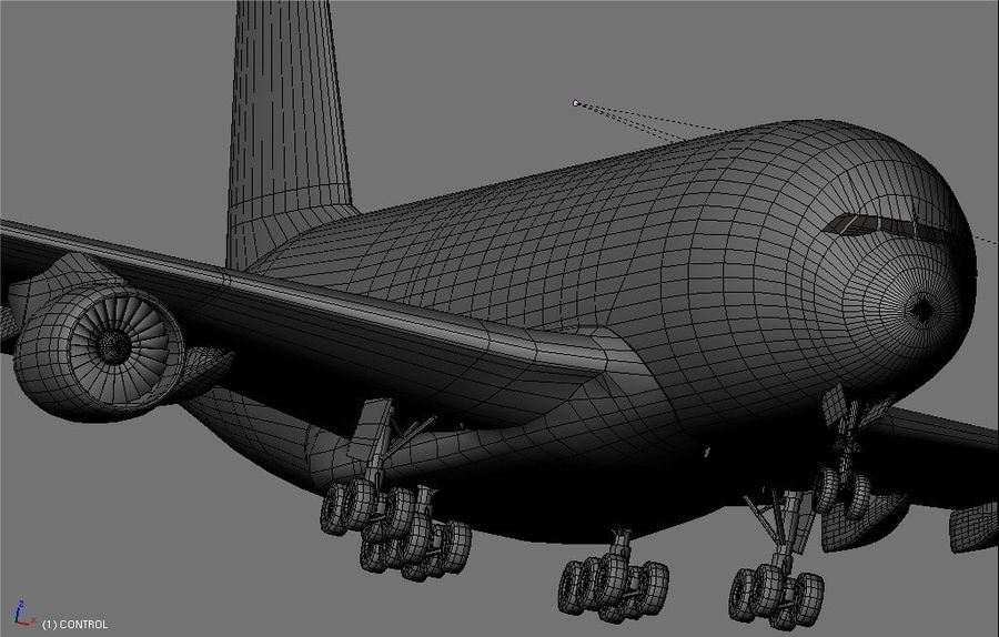 Airbus A380 Etihad royalty-free 3d model - Preview no. 17