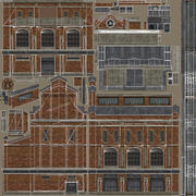 Old Factory 02 LOD 3d model
