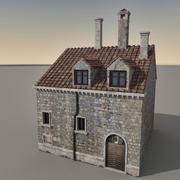 Italiaans gebouw 029 3d model