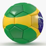 Soccerball big holes Brazil 3d model