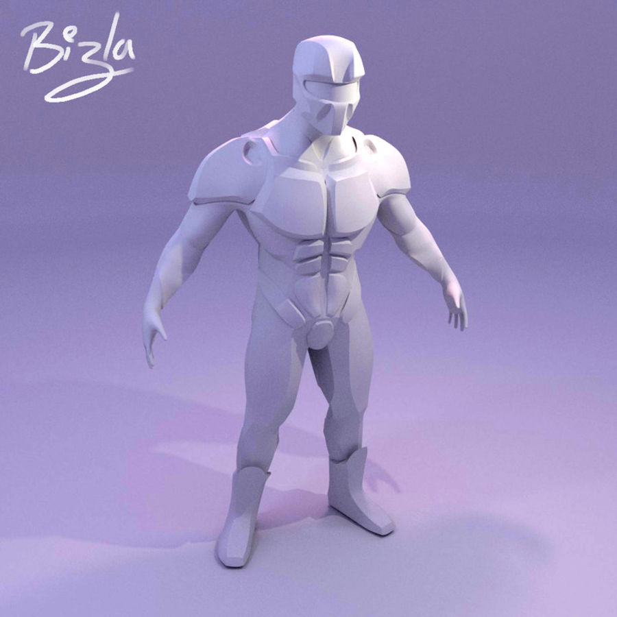 Futuristic soldier mesh royalty-free 3d model - Preview no. 1
