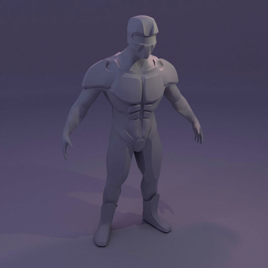 Futuristic soldier mesh royalty-free 3d model - Preview no. 5