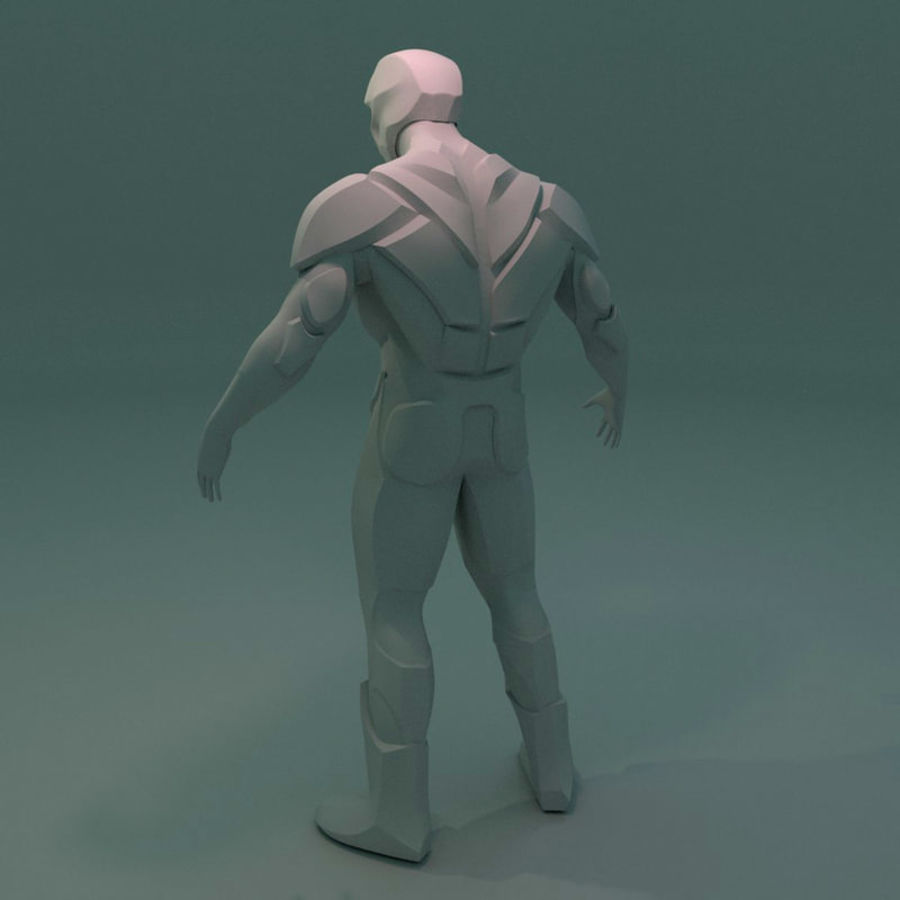 Futuristic soldier mesh royalty-free 3d model - Preview no. 3