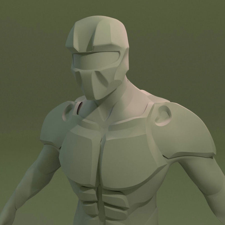 Futuristic soldier mesh royalty-free 3d model - Preview no. 2