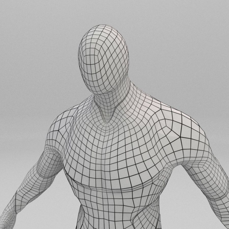 Futuristic soldier mesh royalty-free 3d model - Preview no. 10