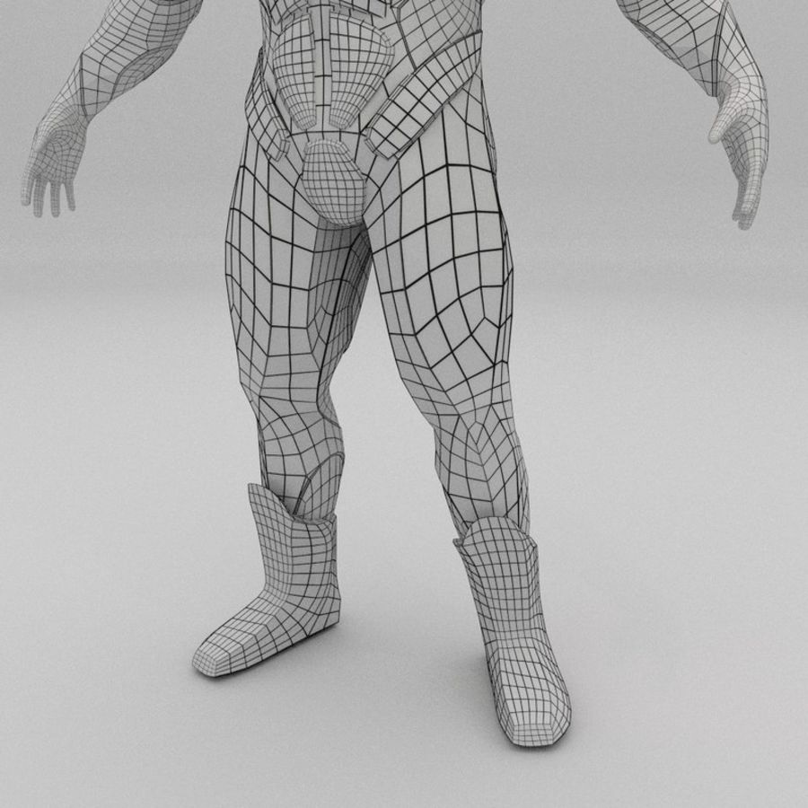 Futuristic soldier mesh royalty-free 3d model - Preview no. 13