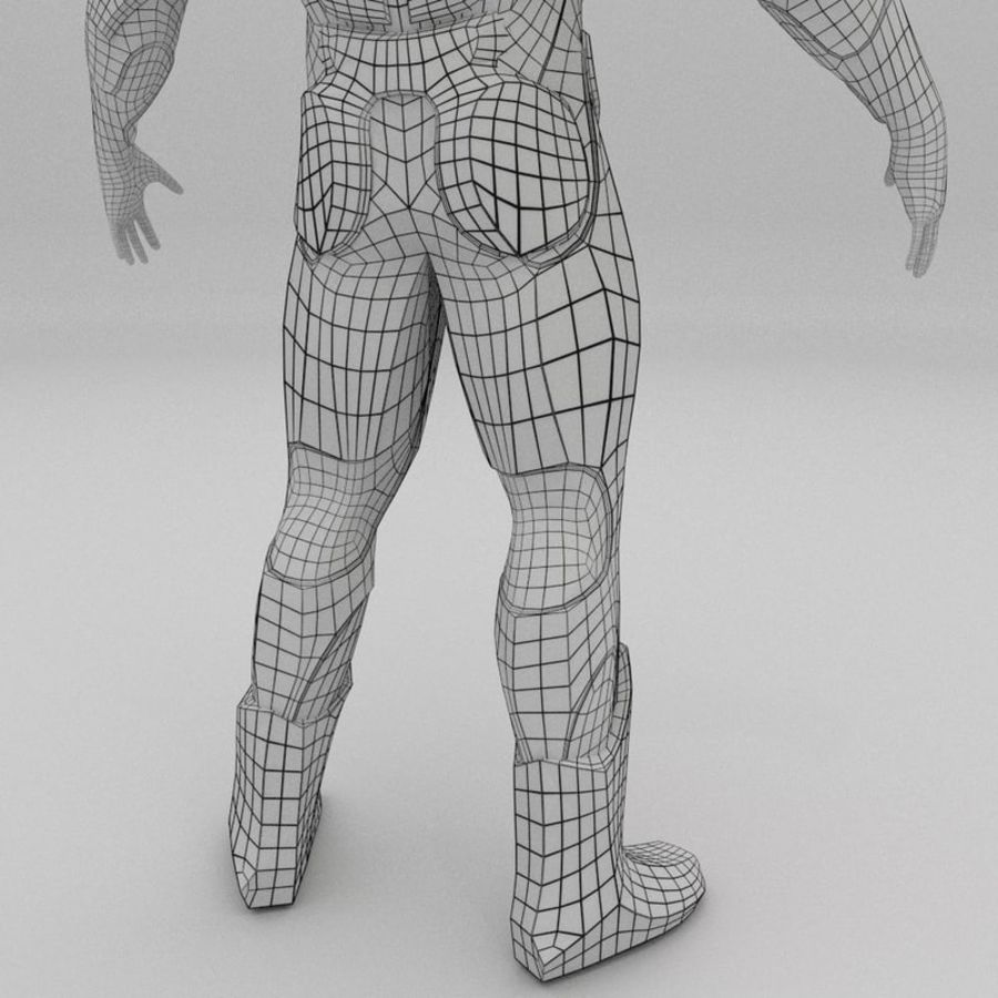 Futuristic soldier mesh royalty-free 3d model - Preview no. 12