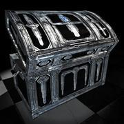 Treasure Chest 04 Silver On Darkwood 3d model