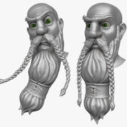 Man with Beard 2 3d model