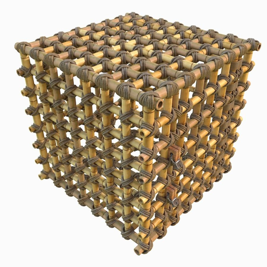 Jungle Bamboo Cage royalty-free 3d model - Preview no. 22