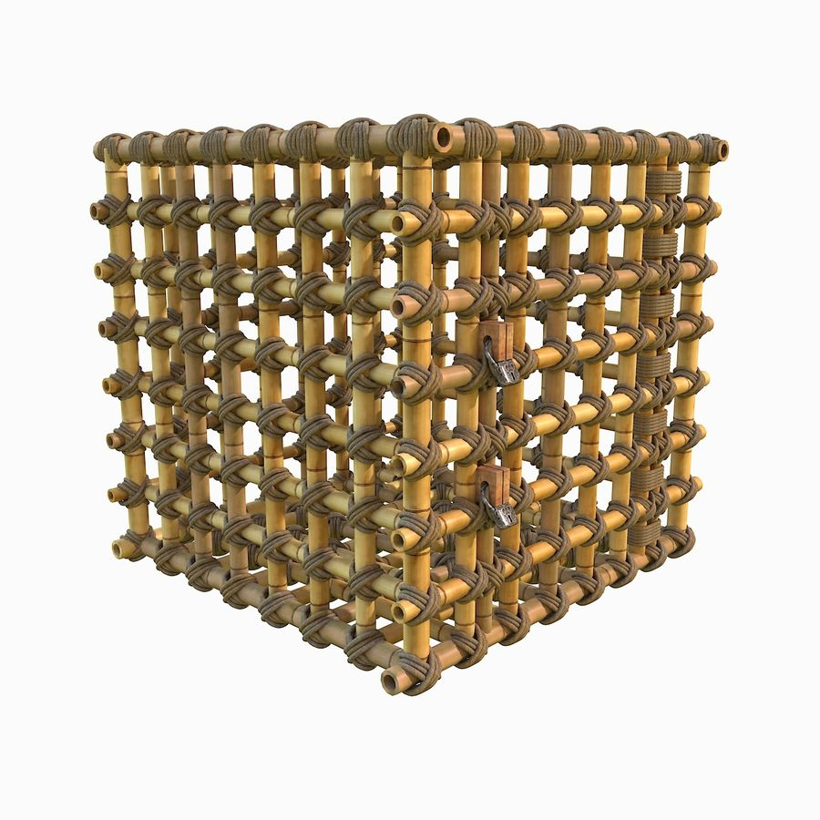 Jungle Bamboo Cage royalty-free 3d model - Preview no. 23