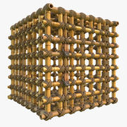 Gaiola de bambu da selva 3d model
